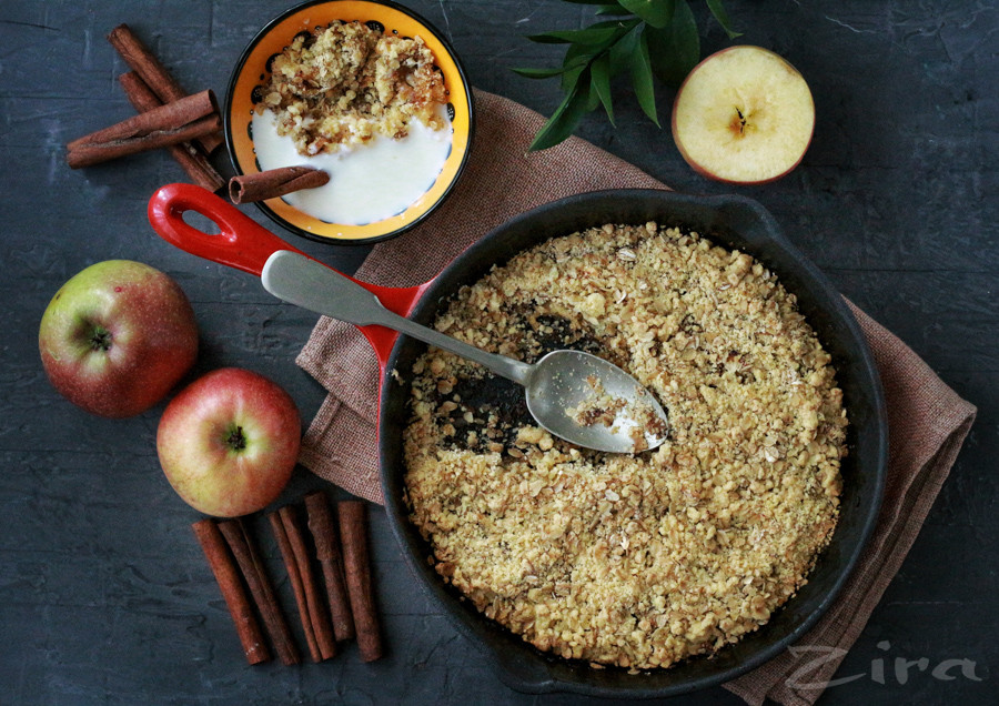 Яблочный крамбл по рецепту Гордона Рамзи