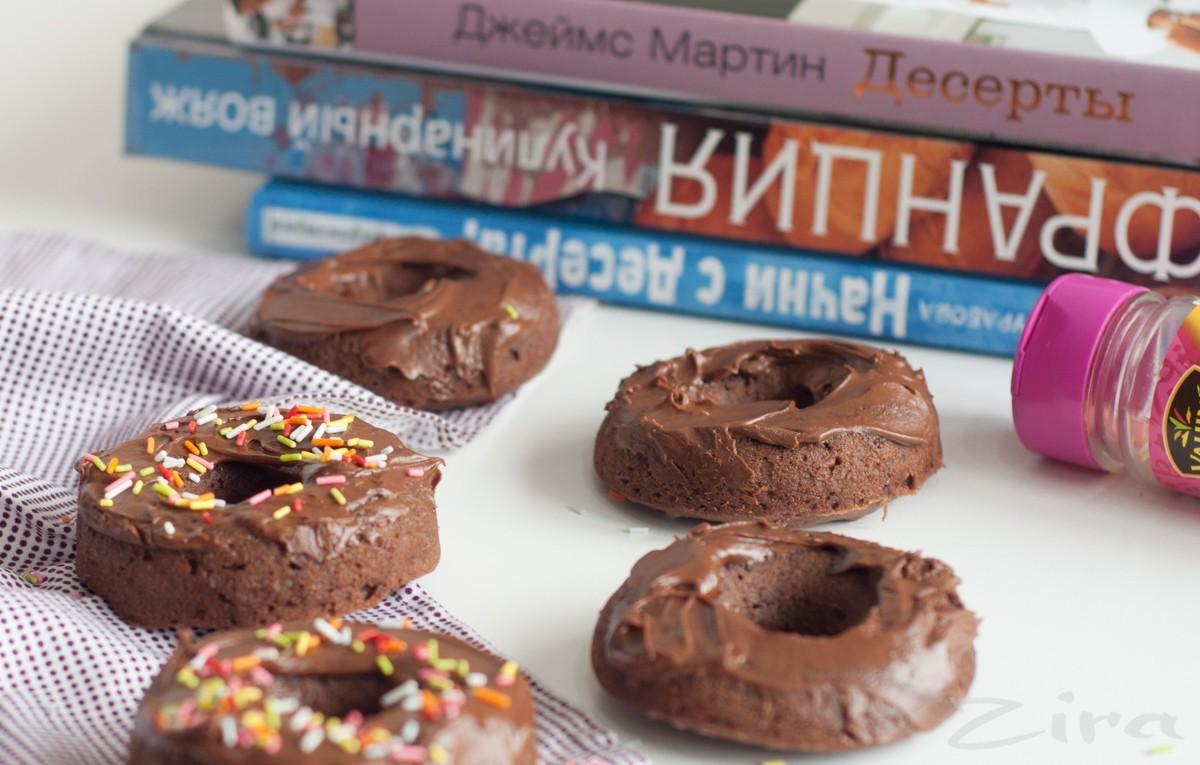 Пончики с шоколадной пастой