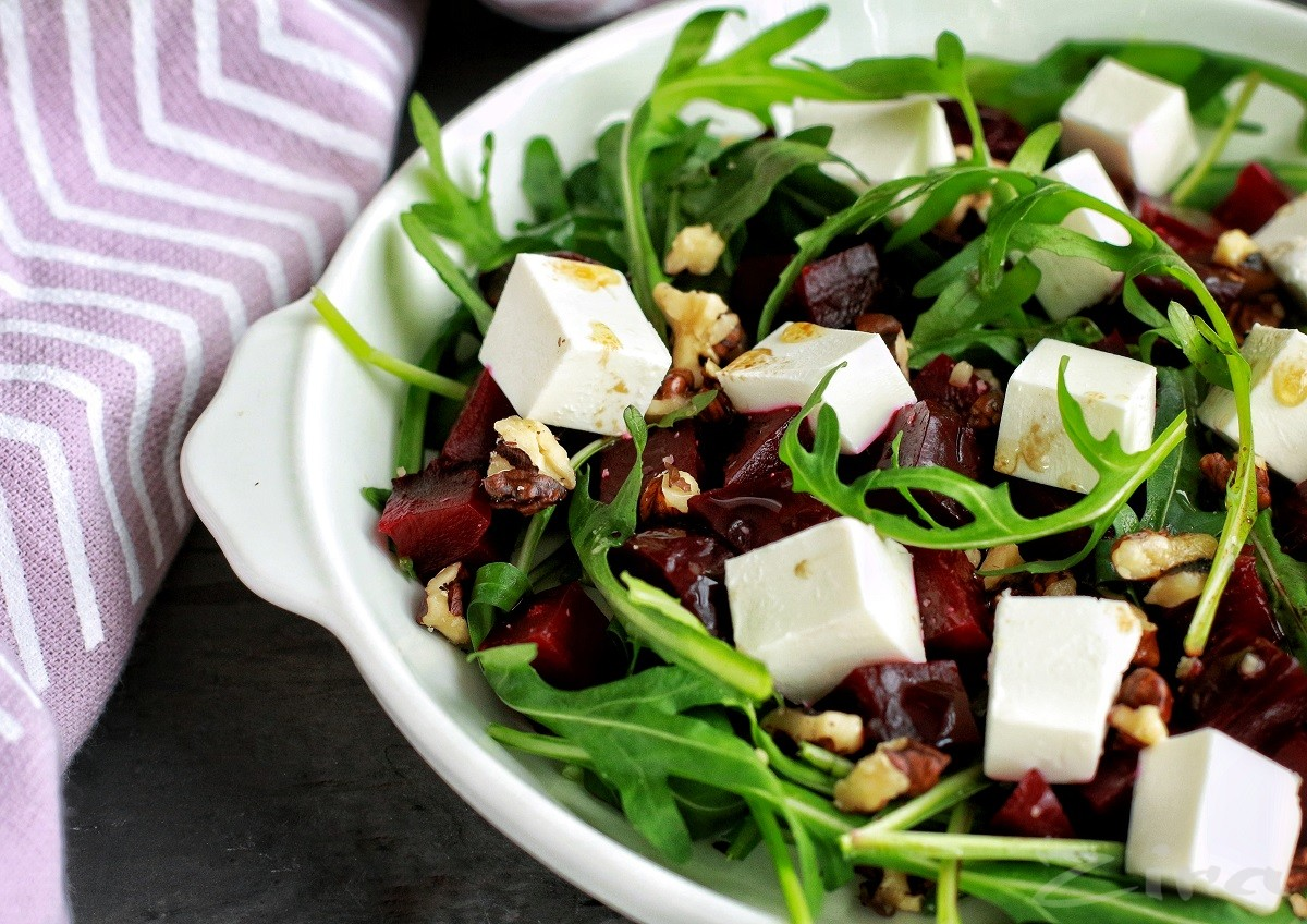 Салат из свеклы с фетой картинки