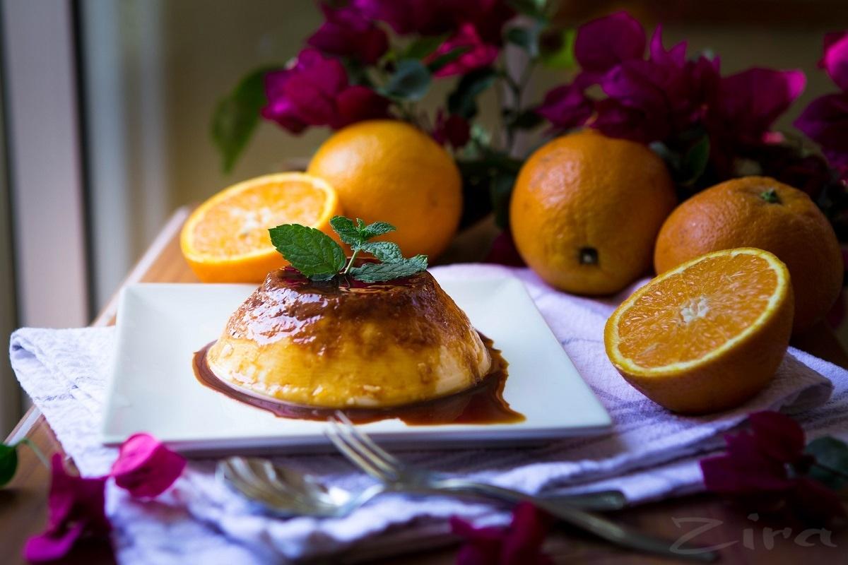 Apelsin sharbatidan tayyorlanilgan sufle