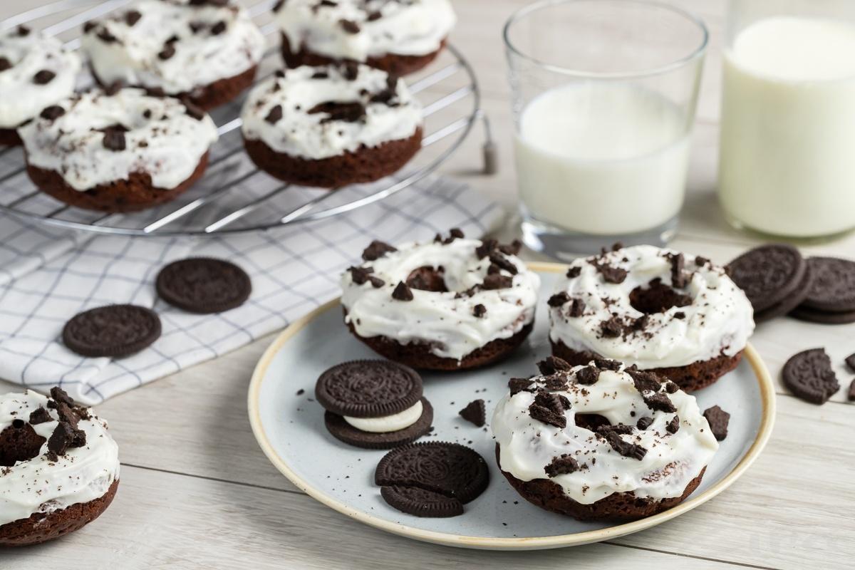 """Шоколадные пончики """"Орео"""""""