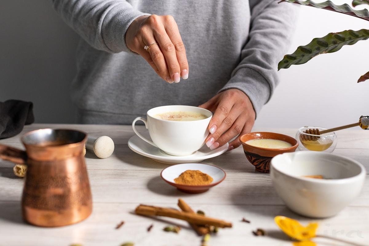 Пошаговый фоторецепт: согревающий йога-чай