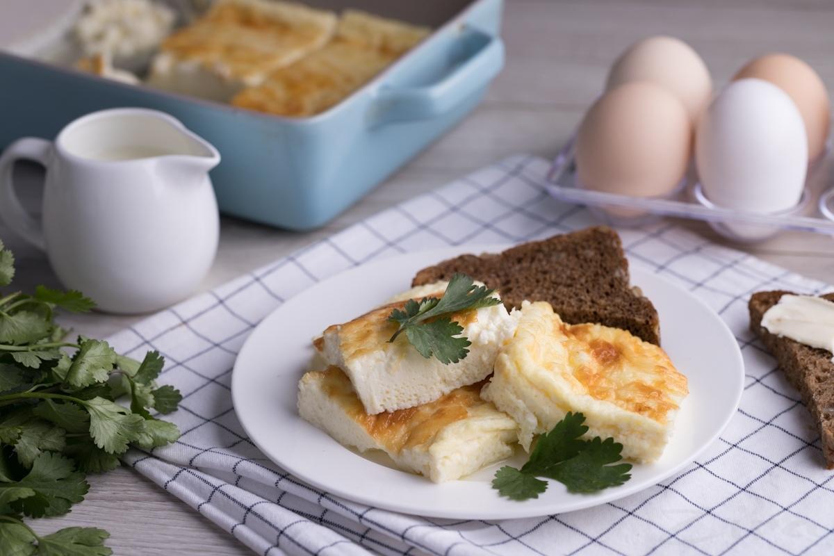 Gaz pechida pishirilgan quymoq (omlet)