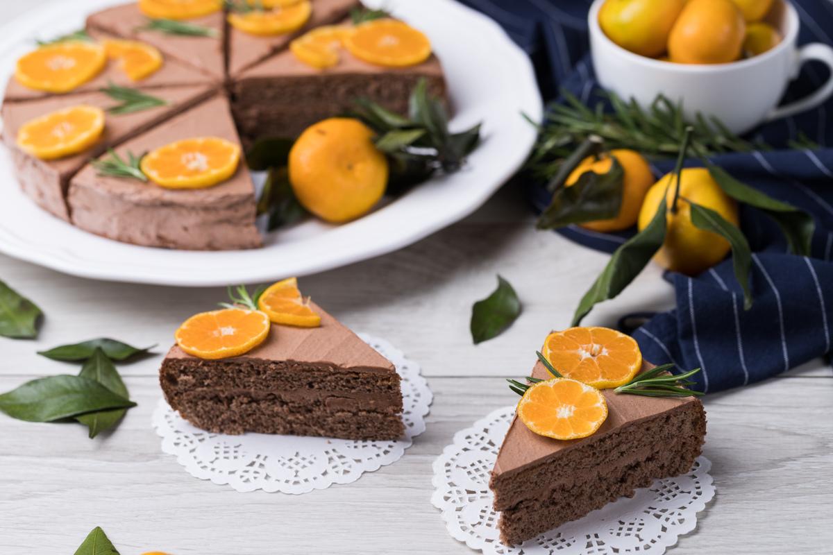Шоколадный торт с масляно-шоколадным кремом
