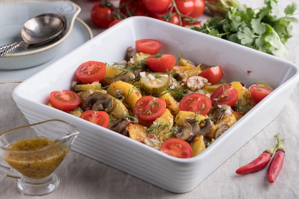 Теплый салат-гарнир к мясу