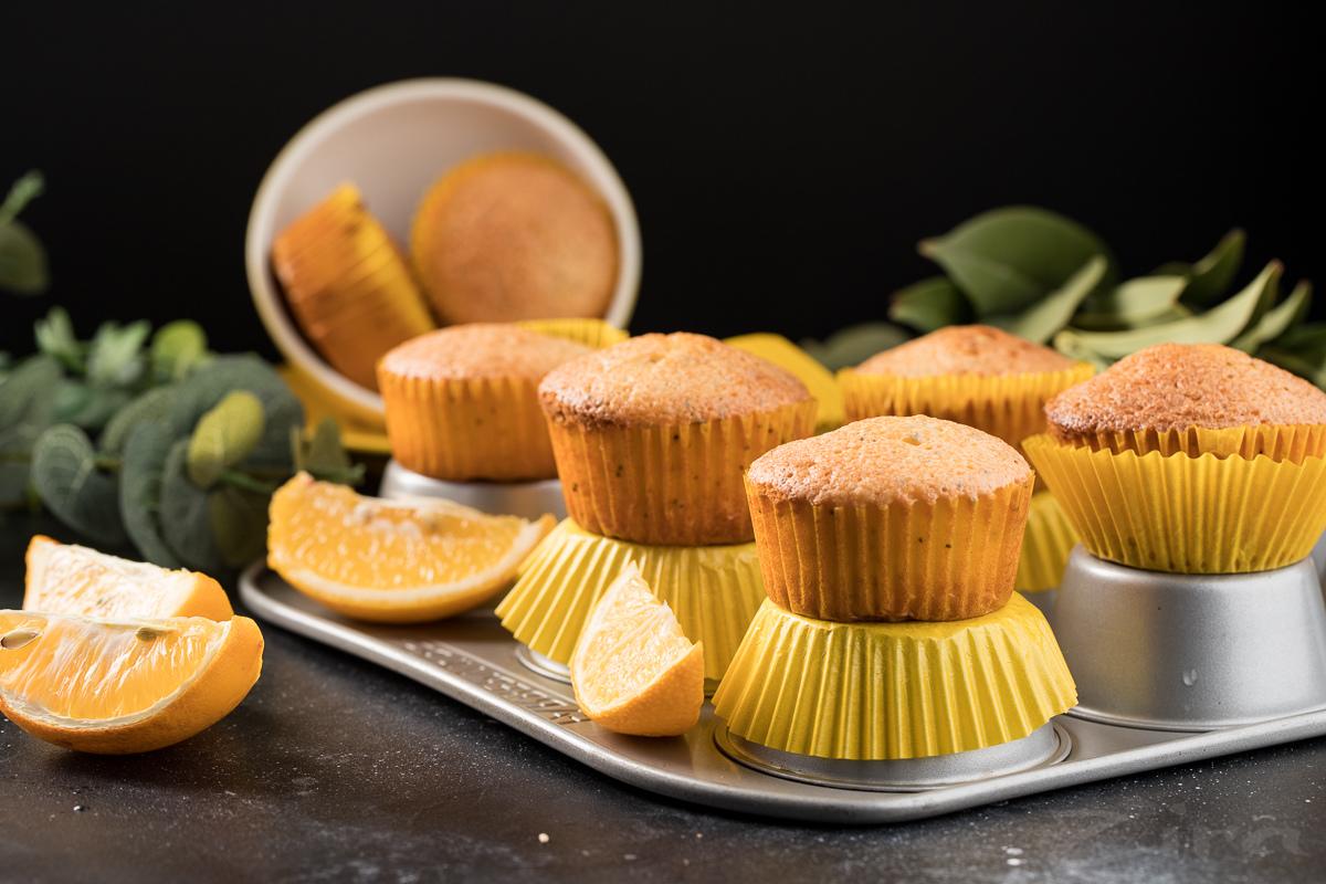 Лимонные маффины с маком