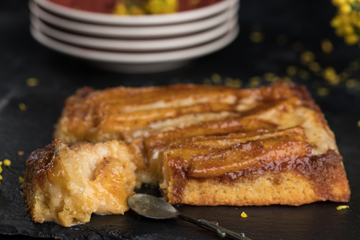 Бананово-карамельный пирог