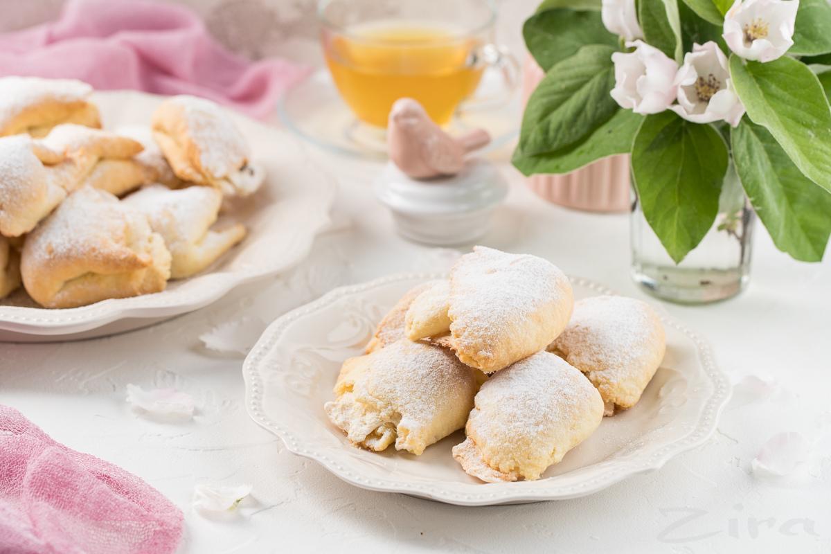 Печенье «ракушки» с безе и орехами