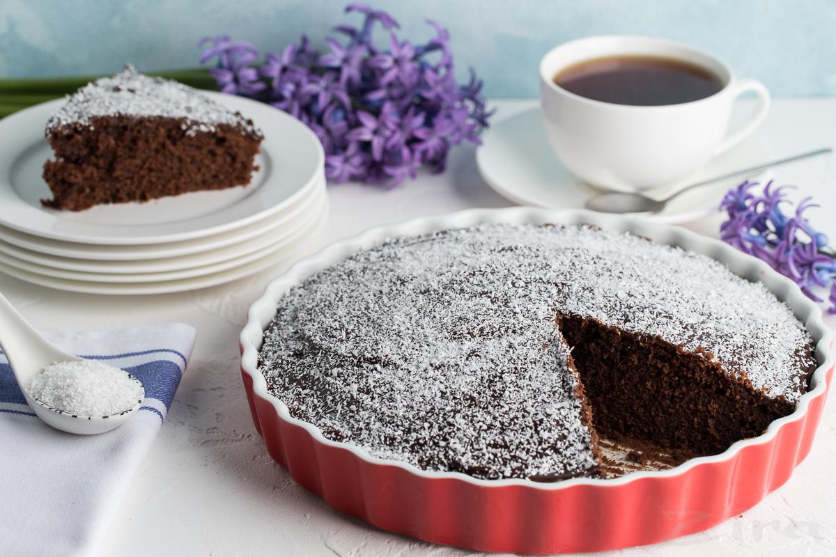 Шведский кекс с шоколадной глазурью