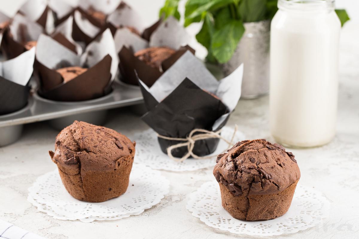 Очень шоколадные маффины