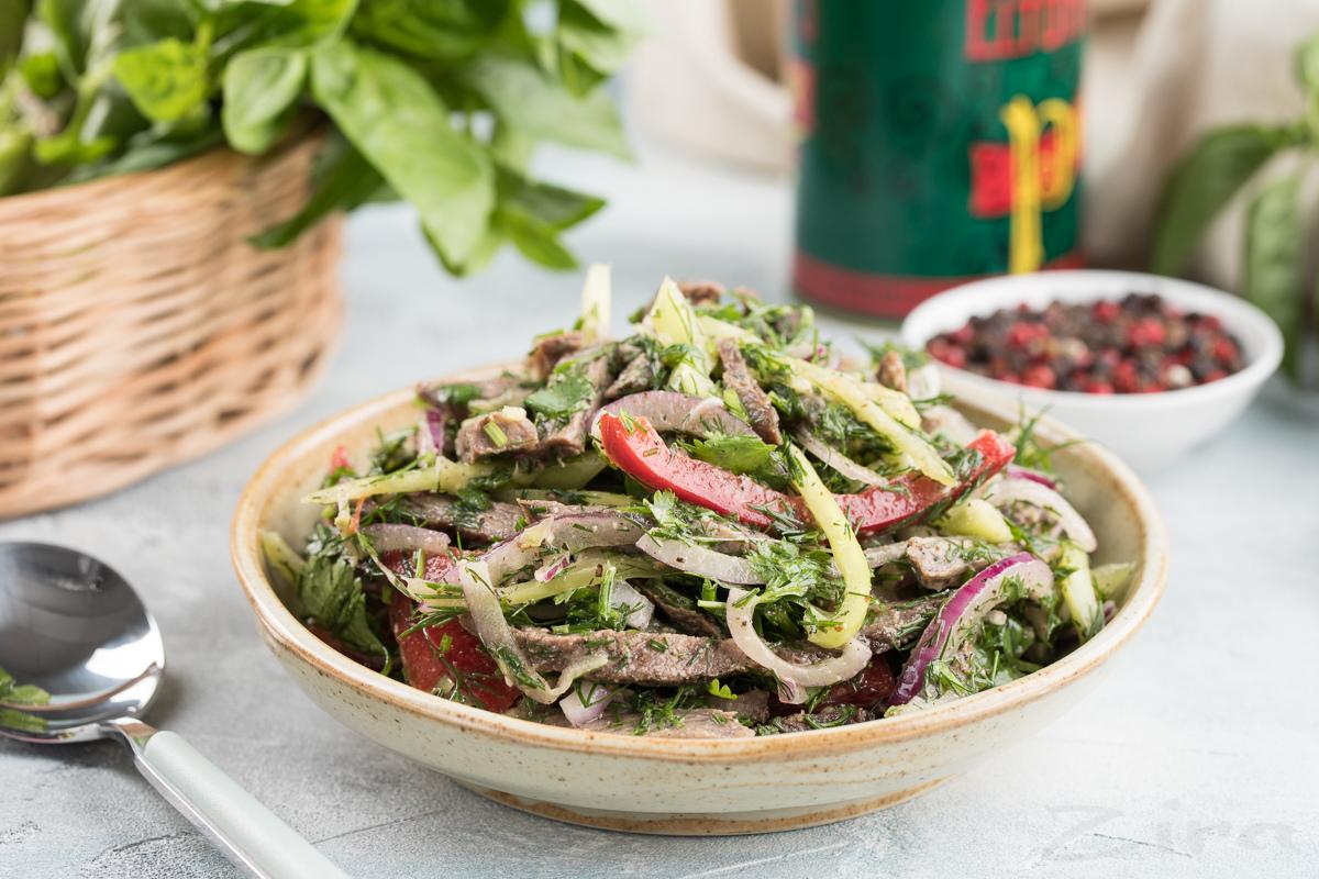Грузинский салат с болгарским перцем