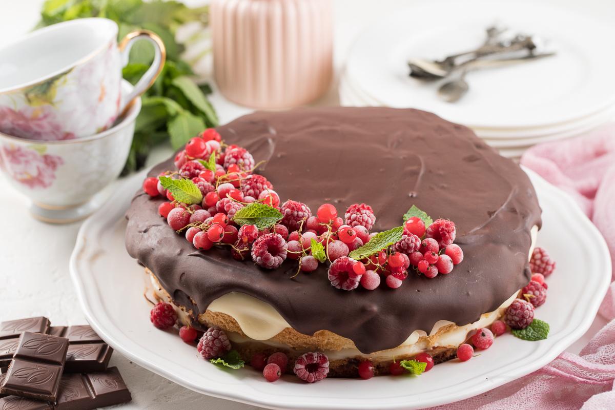 Пошаговый фоторецепт: Бостонский кремовый торт
