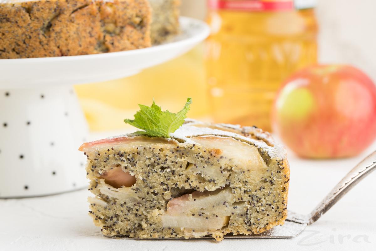 Видеорецепт: пирог яблочный с маком