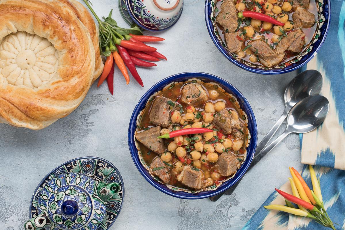 Узбекский суп с нутом