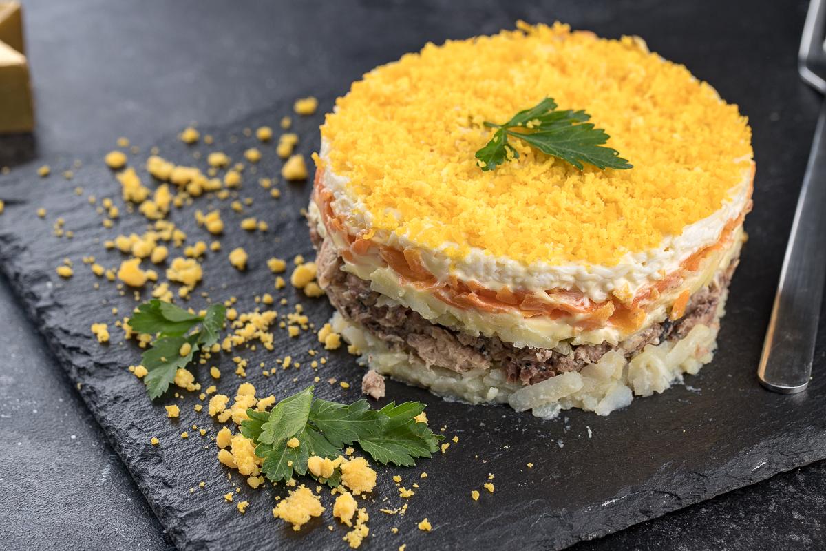 настоящий салат мимоза рецепт с фото образ