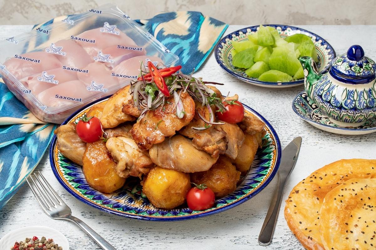 Видеорецепт: казан-кебаб из филе бедра курицы