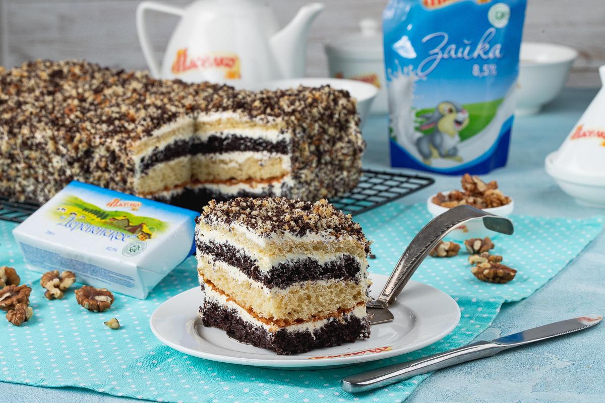 Видеорецепт: «махровый» торт