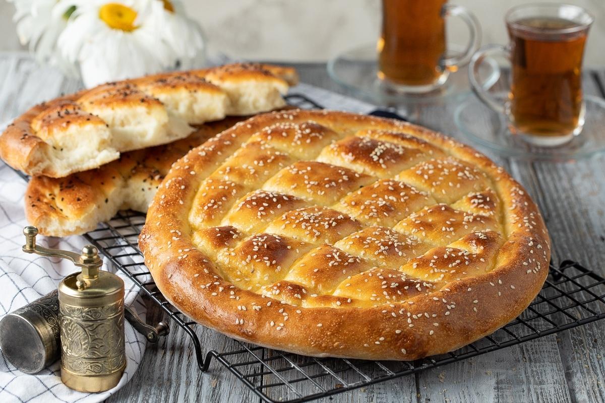 Турецкий хлеб (Рамазан пиде)