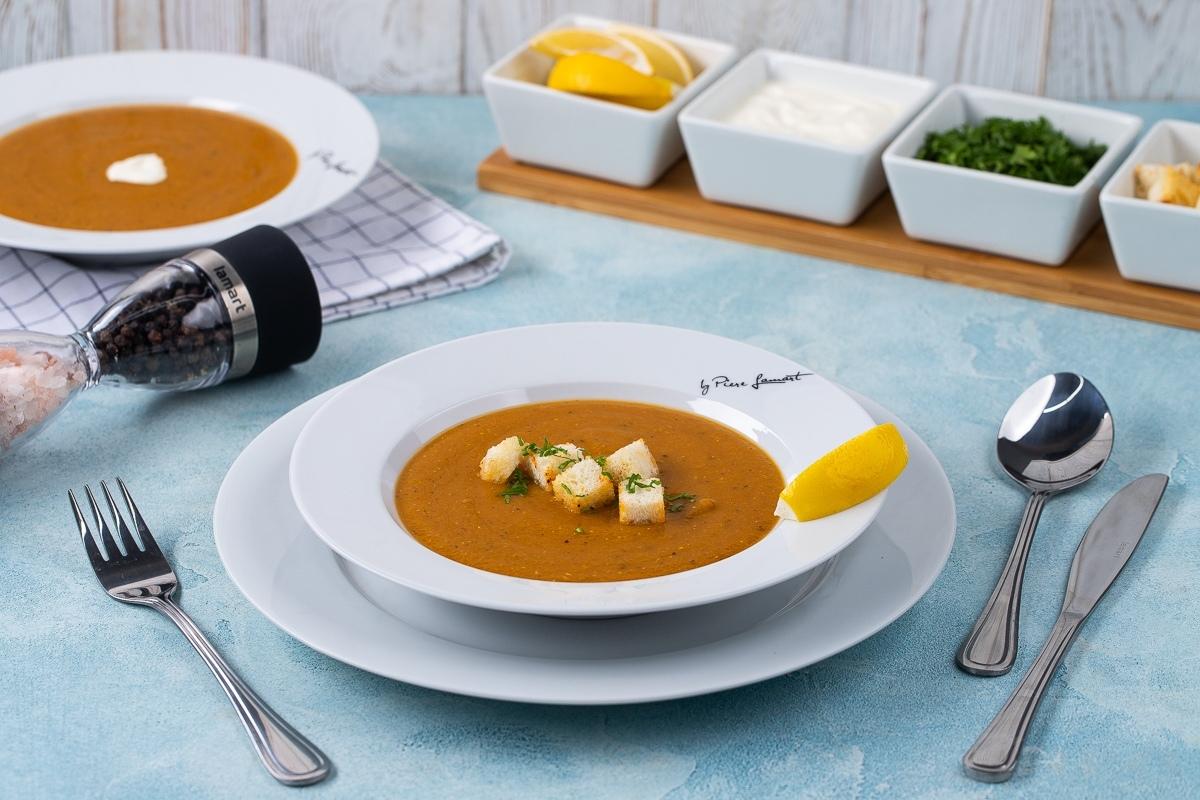 Видеорецепт: турецкий чечевичный крем-суп