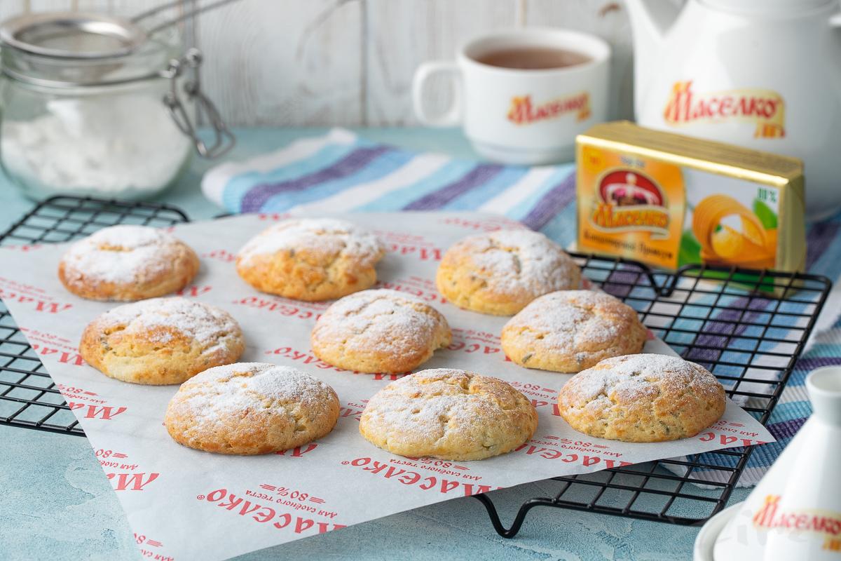 Видеорецепт: лимонно-мятное печенье
