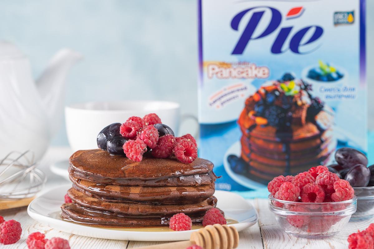 Шоколадные панкейки из готовой смеси Mandie Pie