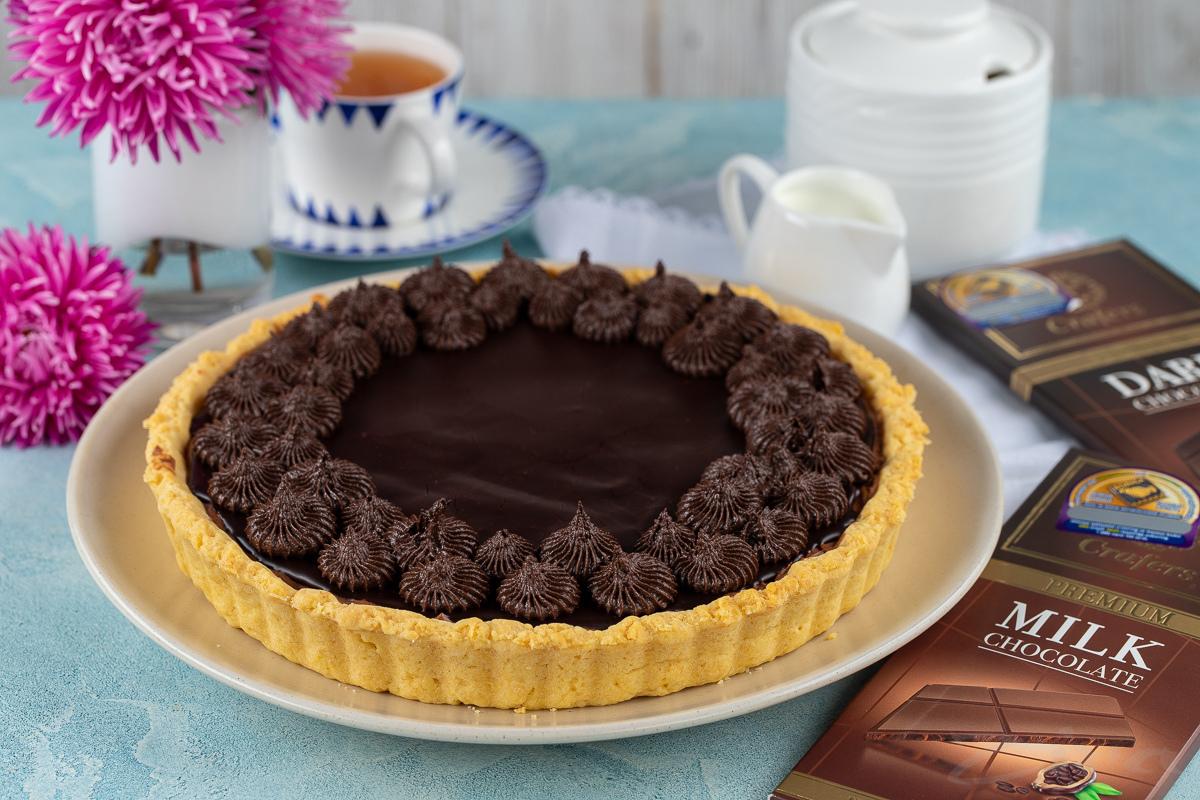 Videoretsept: shokoladli suflega ega tart