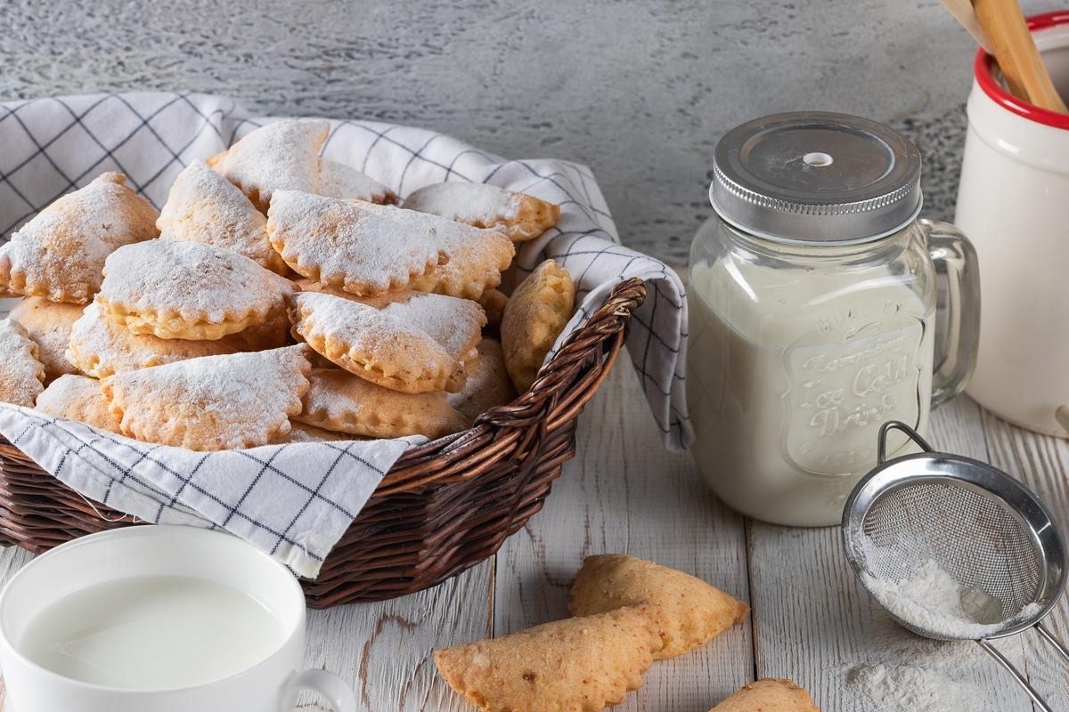 Творожное печенье с заварным кремом